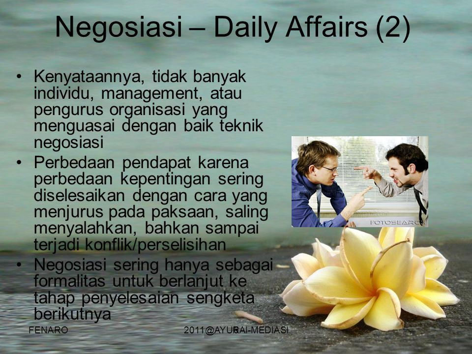 Negosiasi – Daily Affairs (2)