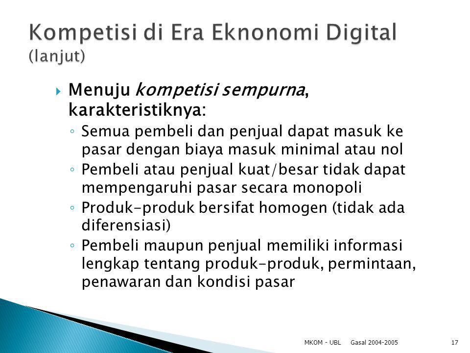 Kompetisi di Era Eknonomi Digital (lanjut)