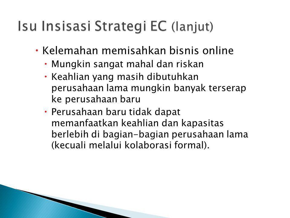 Isu Insisasi Strategi EC (lanjut)