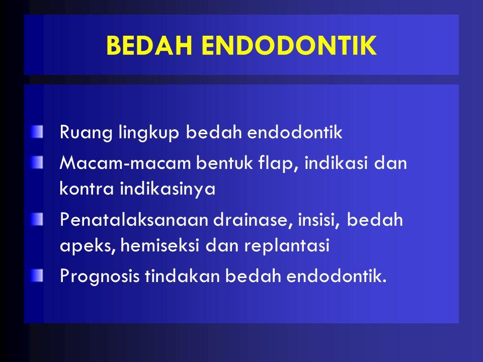 BEDAH ENDODONTIK Ruang lingkup bedah endodontik