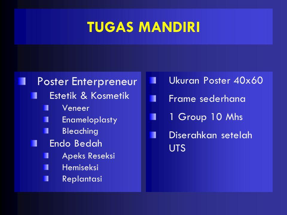 TUGAS MANDIRI Poster Enterpreneur Ukuran Poster 40x60
