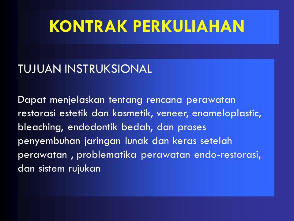 KONTRAK PERKULIAHAN TUJUAN INSTRUKSIONAL