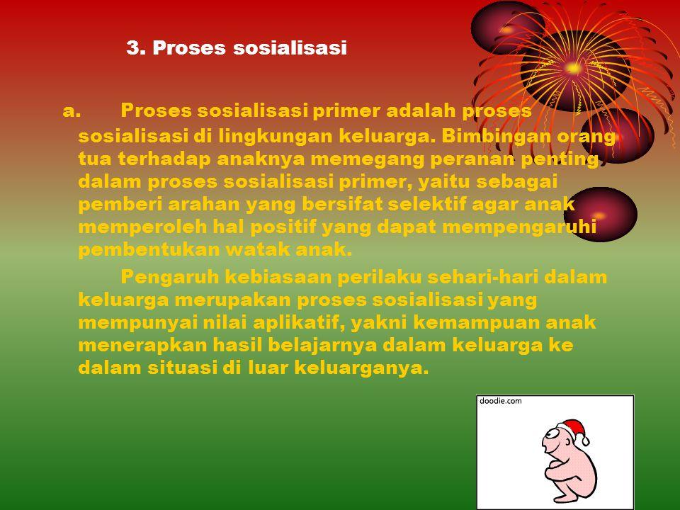 3. Proses sosialisasi