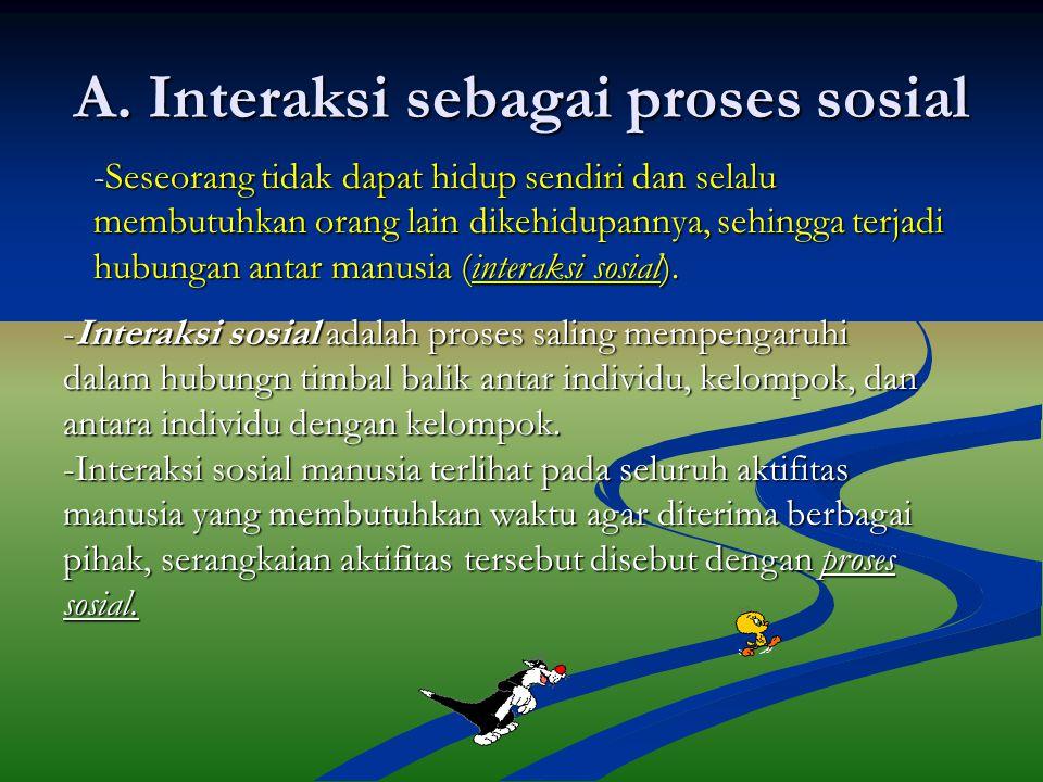 A. Interaksi sebagai proses sosial