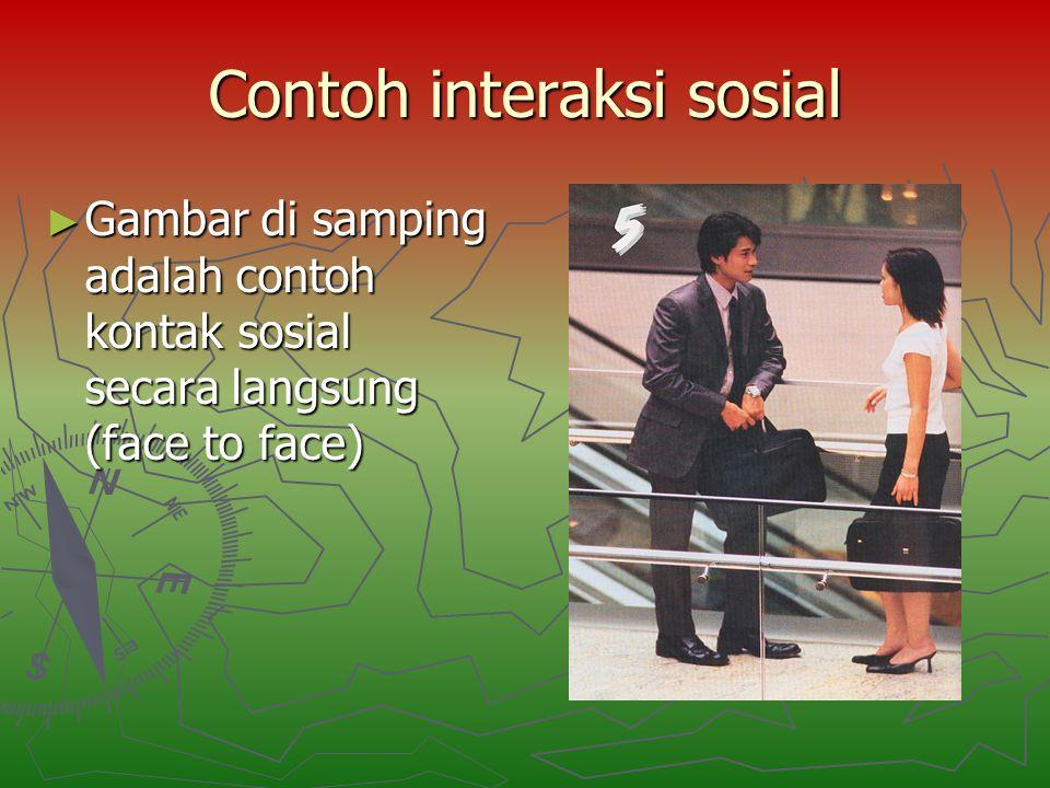 Contoh interaksi sosial