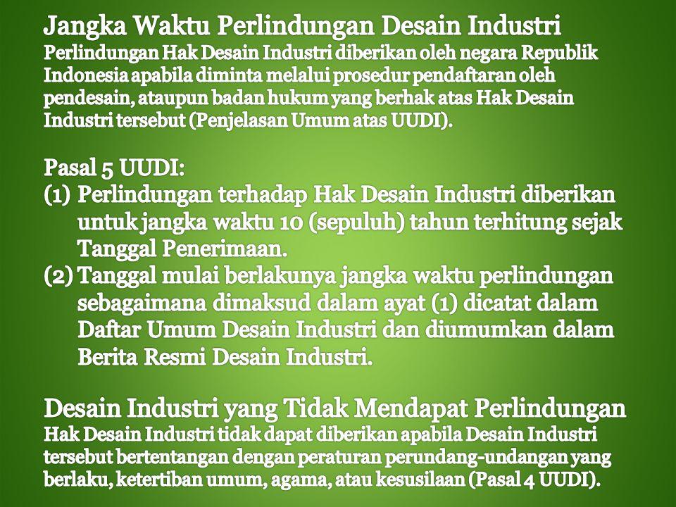 Jangka Waktu Perlindungan Desain Industri