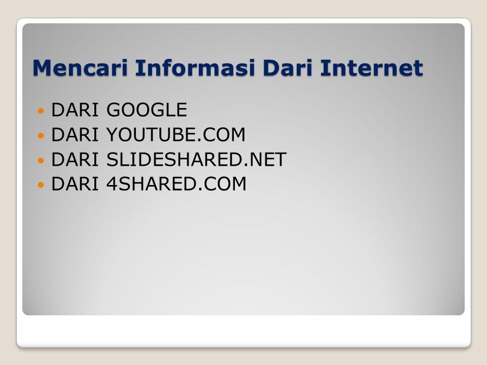 Mencari Informasi Dari Internet
