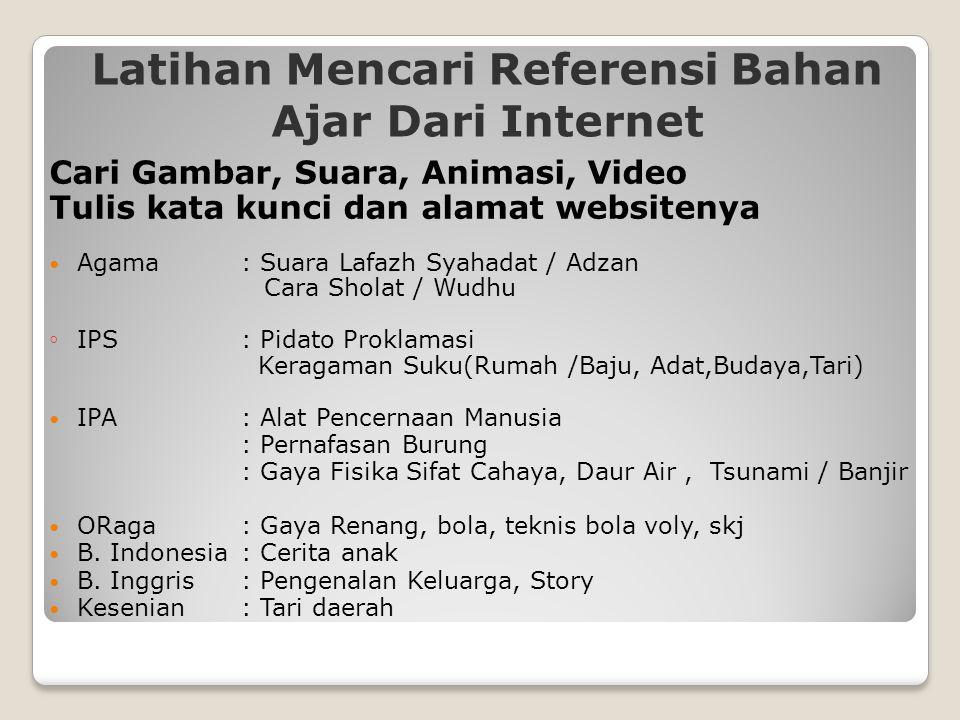 Latihan Mencari Referensi Bahan Ajar Dari Internet