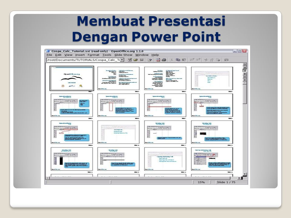Membuat Presentasi Dengan Power Point