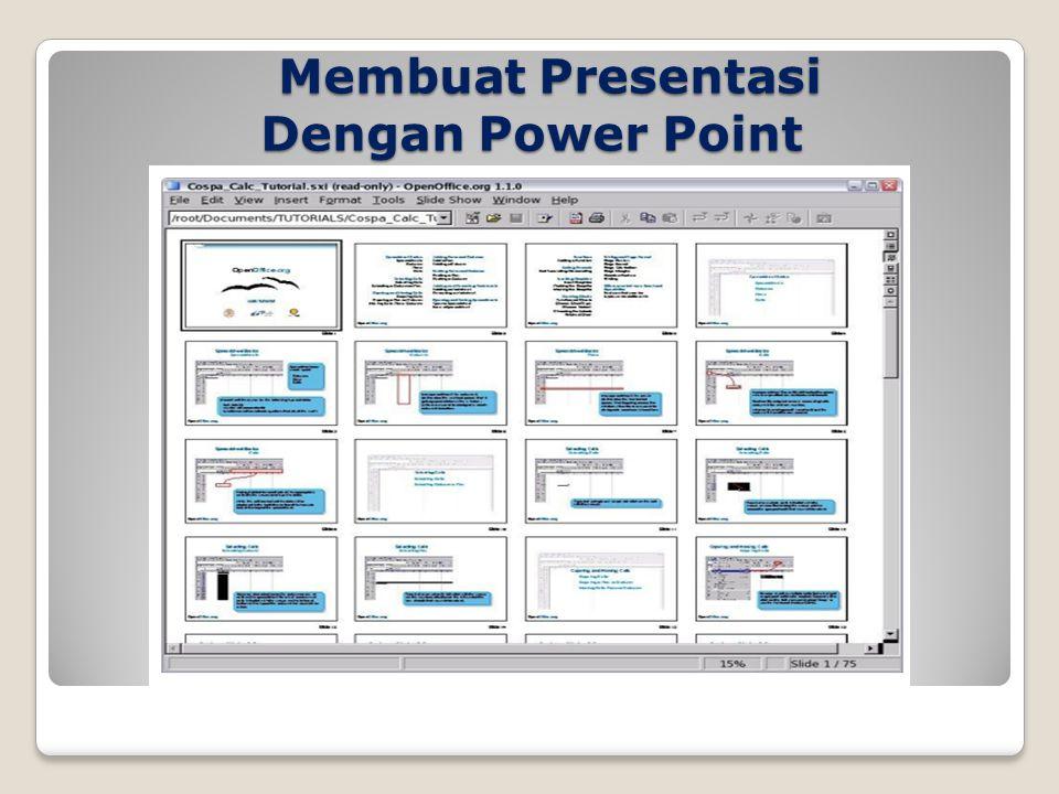 Membuat Presentasi Dengan Power Point