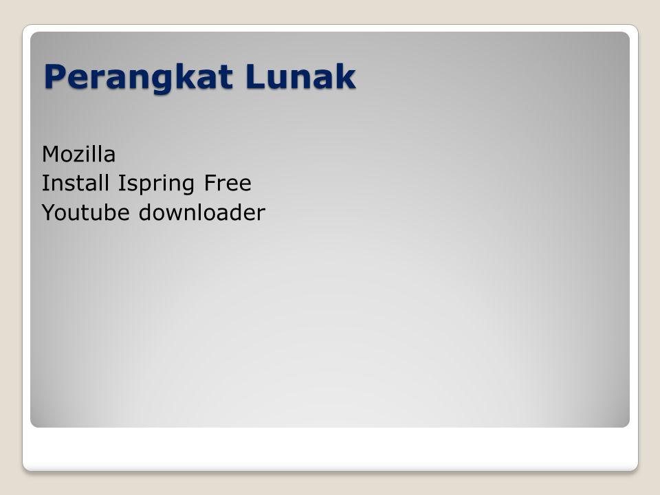 Perangkat Lunak Mozilla Install Ispring Free Youtube downloader