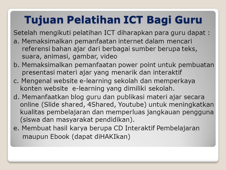 Tujuan Pelatihan ICT Bagi Guru
