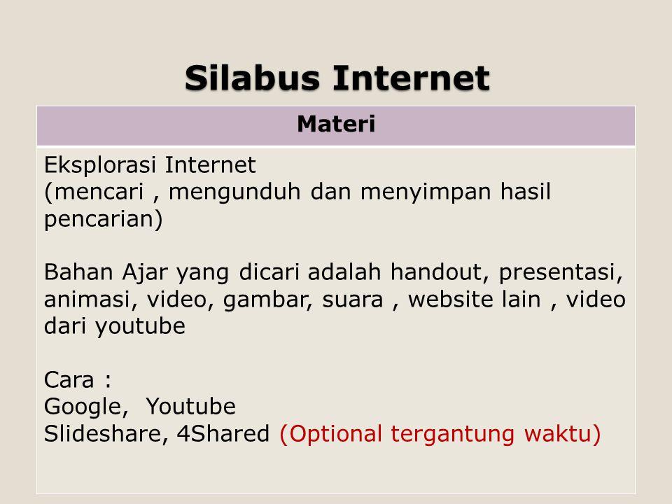 Silabus Internet Materi Eksplorasi Internet