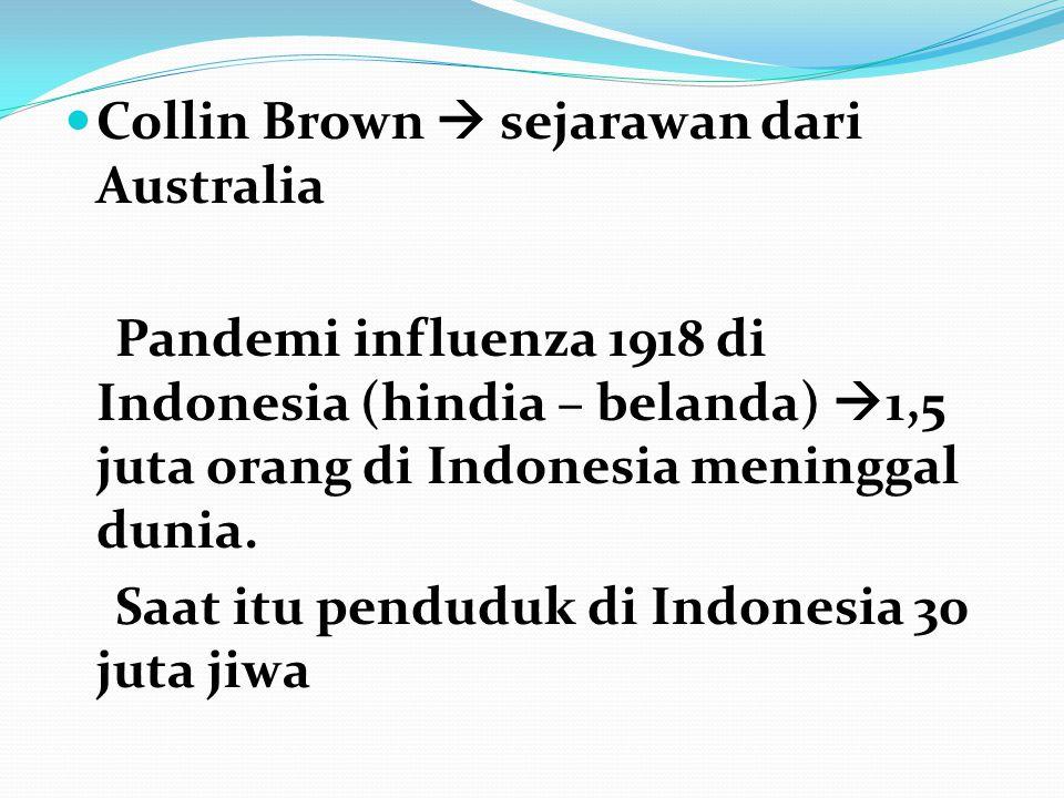 Collin Brown  sejarawan dari Australia