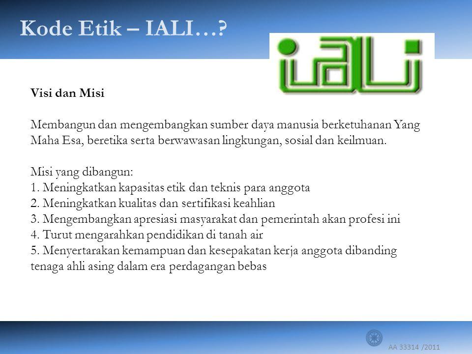 Kode Etik – IALI… Visi dan Misi