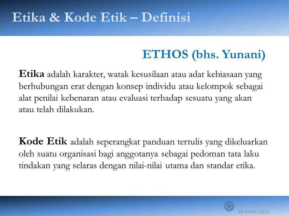 Etika & Kode Etik – Definisi