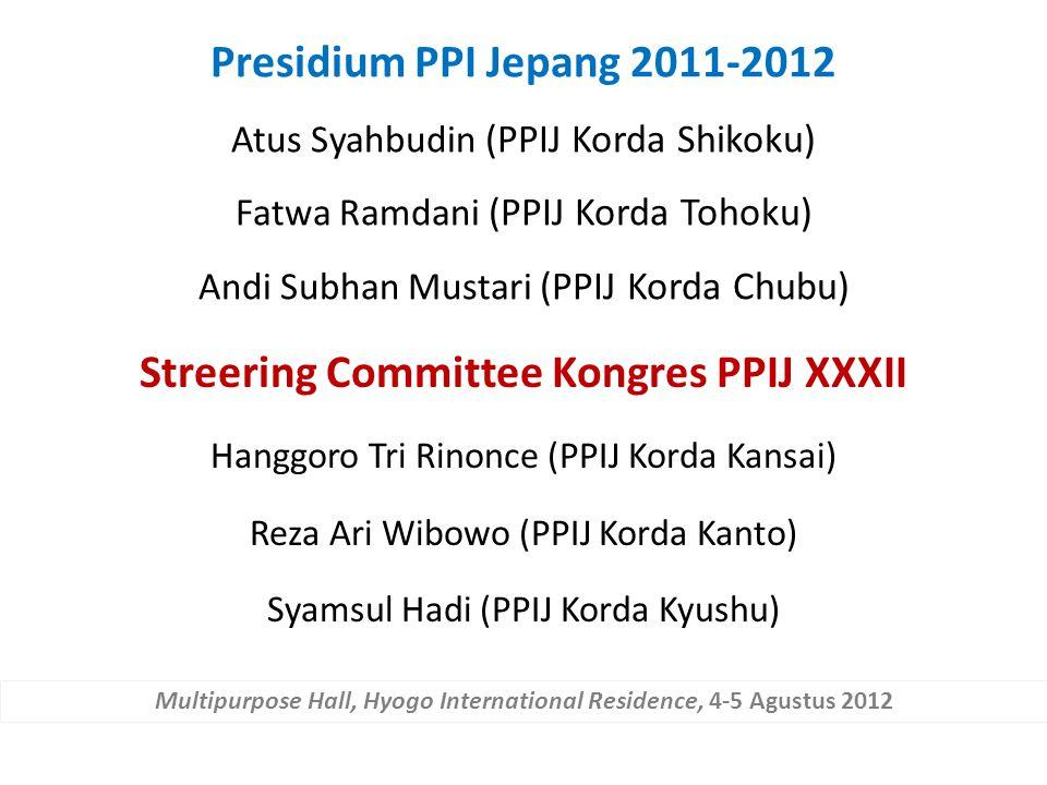 Streering Committee Kongres PPIJ XXXII