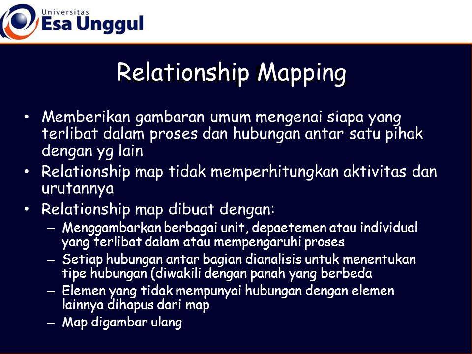 Relationship Mapping Relationship Mapping