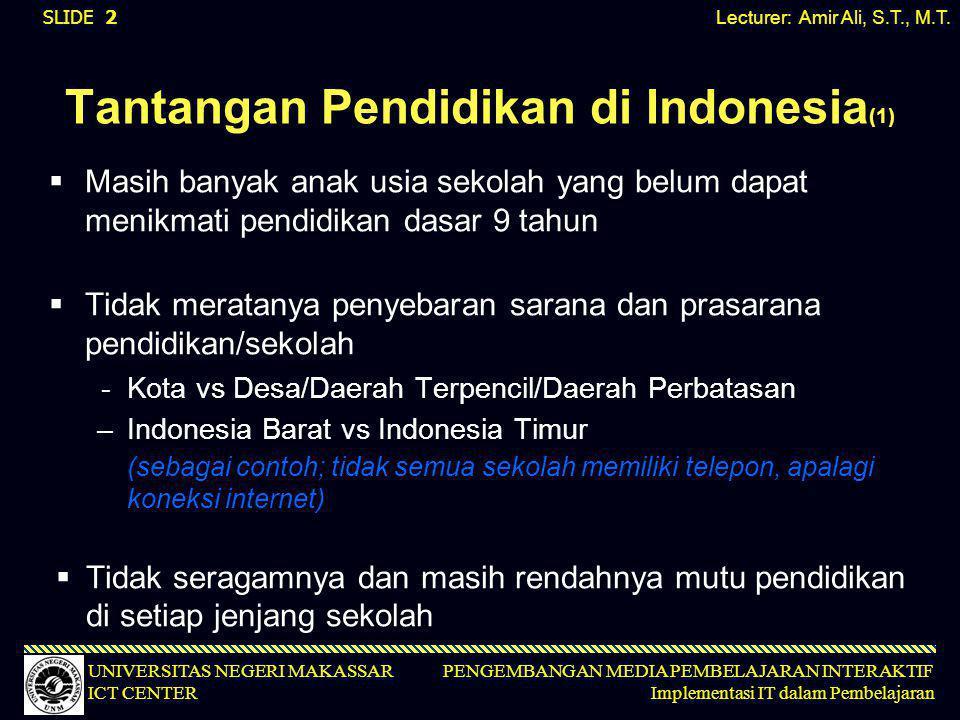Tantangan Pendidikan di Indonesia(1)