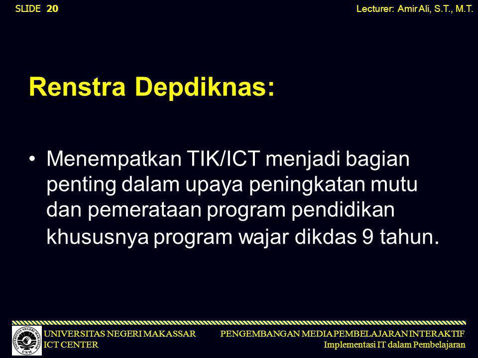 Lecturer: Amir Ali, S.T., M.T.