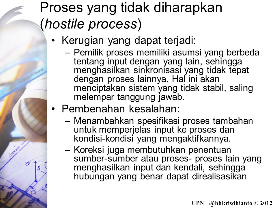 Proses yang tidak diharapkan (hostile process)
