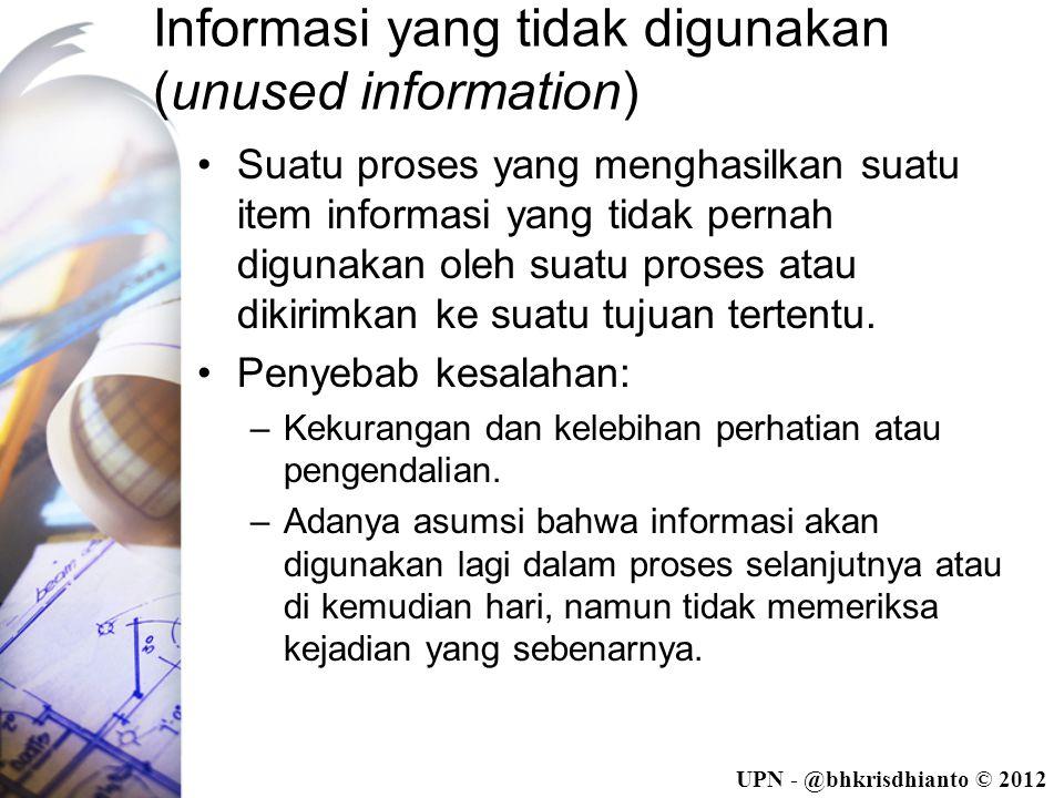 Informasi yang tidak digunakan (unused information)