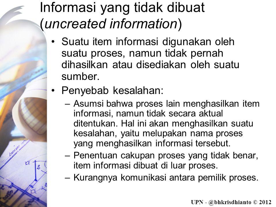 Informasi yang tidak dibuat (uncreated information)