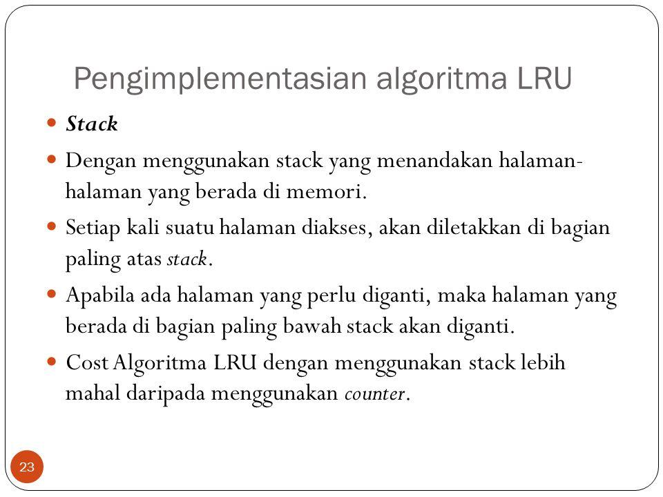 Pengimplementasian algoritma LRU