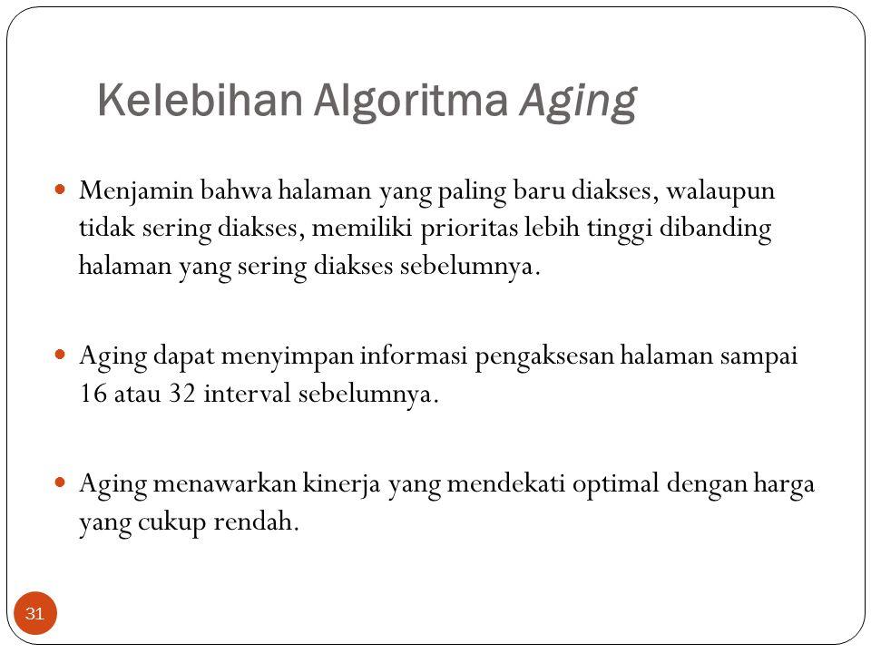 Kelebihan Algoritma Aging