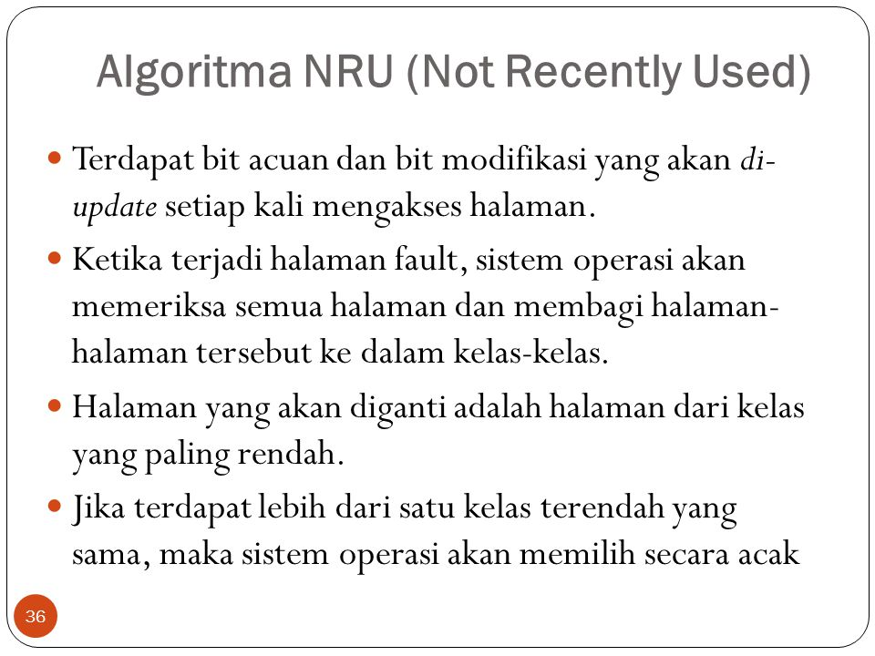 Algoritma NRU (Not Recently Used)