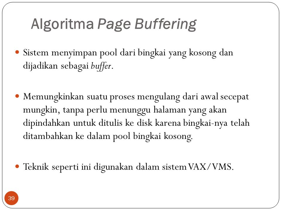 Algoritma Page Buffering