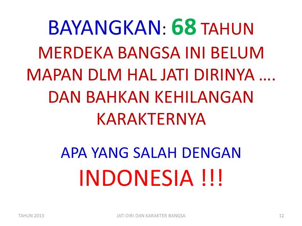 APA YANG SALAH DENGAN INDONESIA !!!
