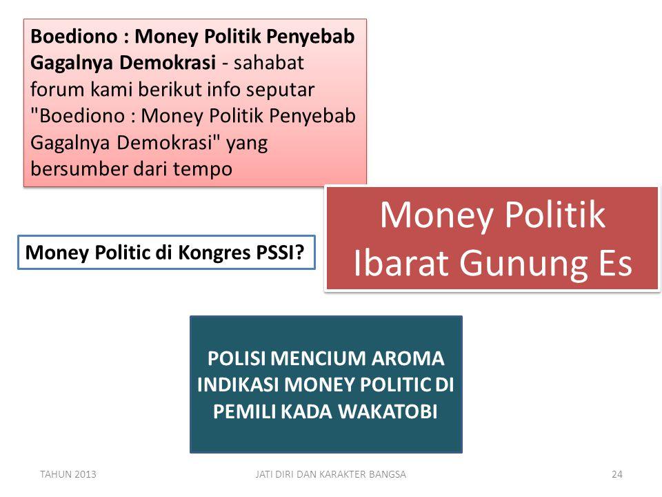 POLISI MENCIUM AROMA INDIKASI MONEY POLITIC DI PEMILI KADA WAKATOBI