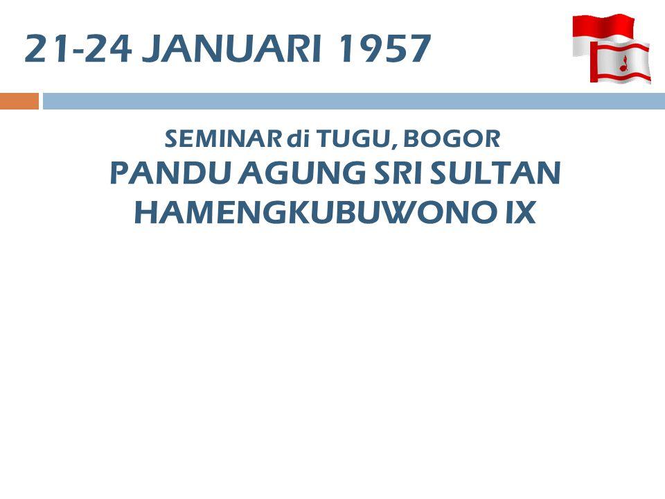 PANDU AGUNG SRI SULTAN HAMENGKUBUWONO IX