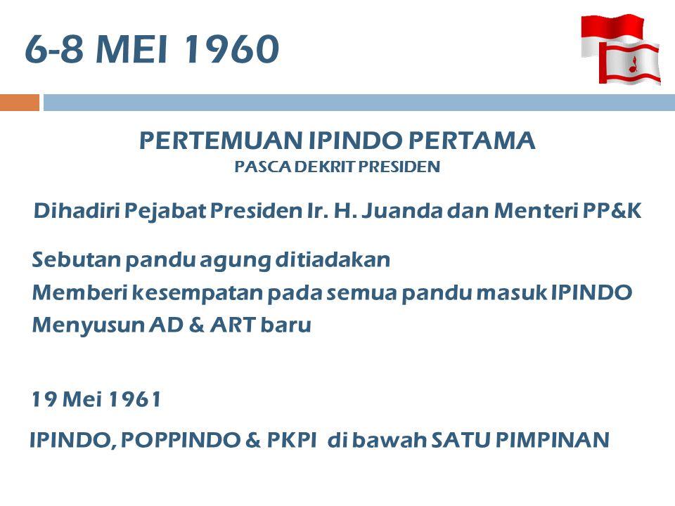 6-8 MEI 1960 PERTEMUAN IPINDO PERTAMA