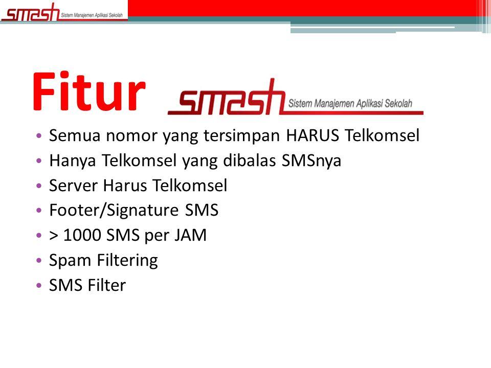 Fitur Semua nomor yang tersimpan HARUS Telkomsel