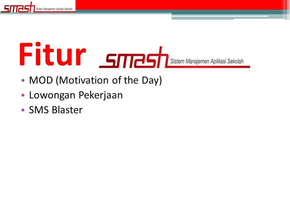 Fitur MOD (Motivation of the Day) Lowongan Pekerjaan SMS Blaster