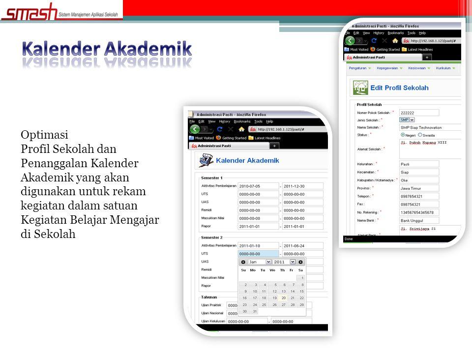 Kalender Akademik Optimasi