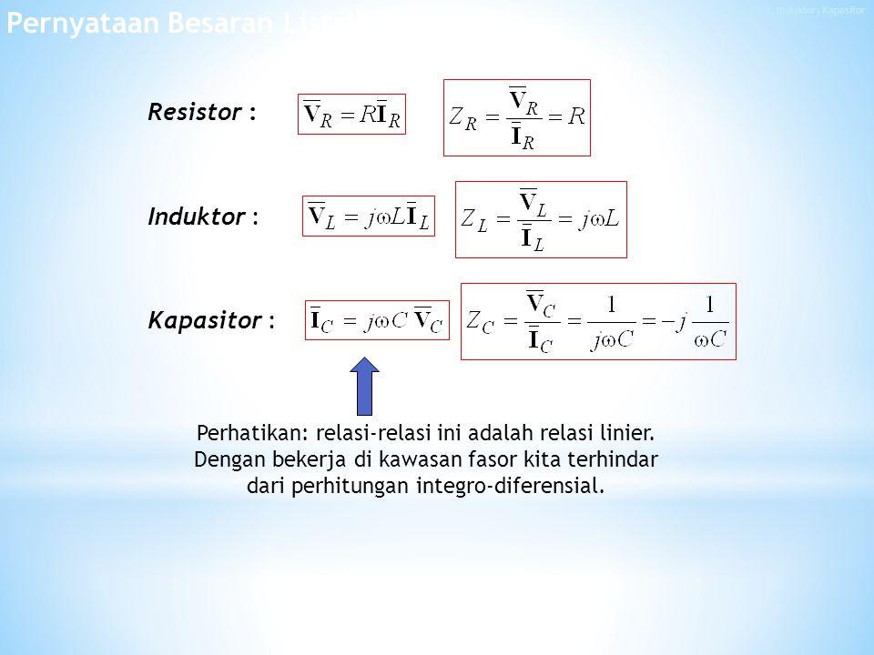 Resistor, Induktor, Kapasitor