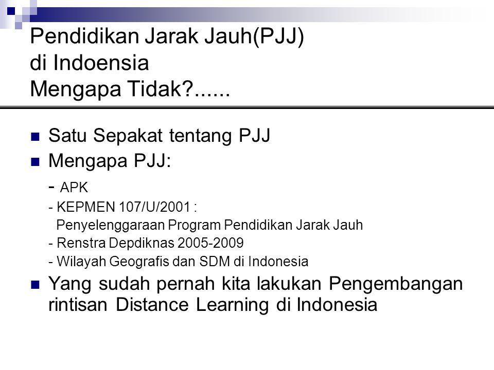 Pendidikan Jarak Jauh(PJJ) di Indoensia Mengapa Tidak ......