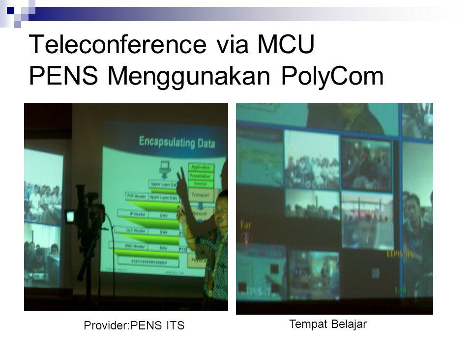 Teleconference via MCU PENS Menggunakan PolyCom