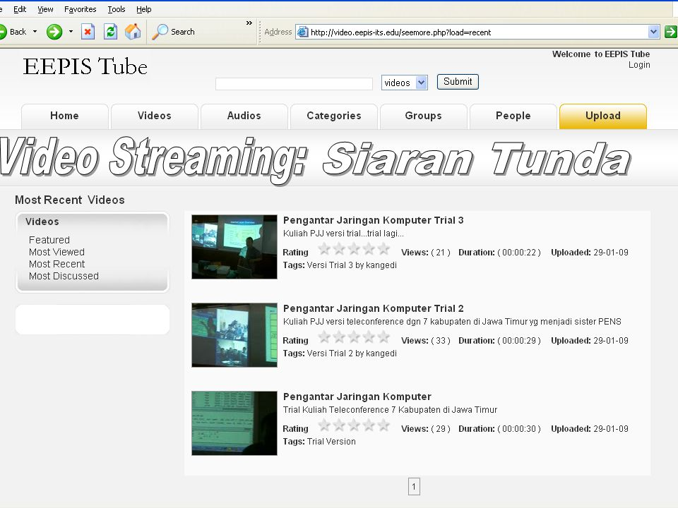 Video Streaming: Siaran Tunda