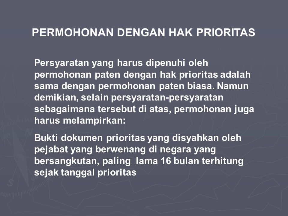 PERMOHONAN DENGAN HAK PRIORITAS