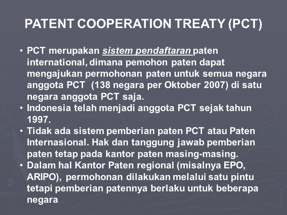 PATENT COOPERATION TREATY (PCT)