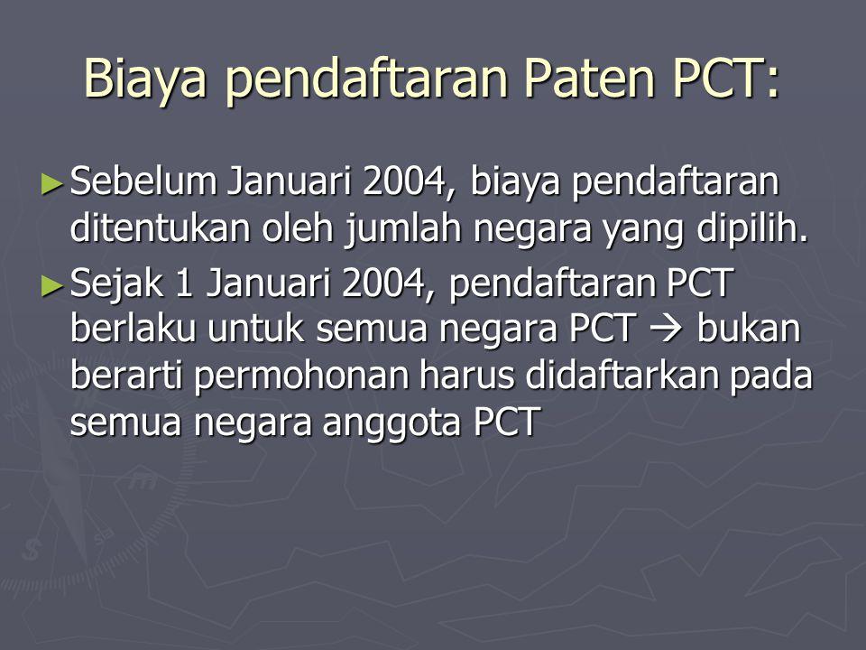 Biaya pendaftaran Paten PCT: