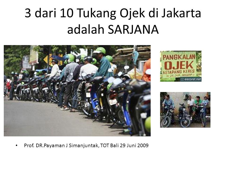 3 dari 10 Tukang Ojek di Jakarta adalah SARJANA