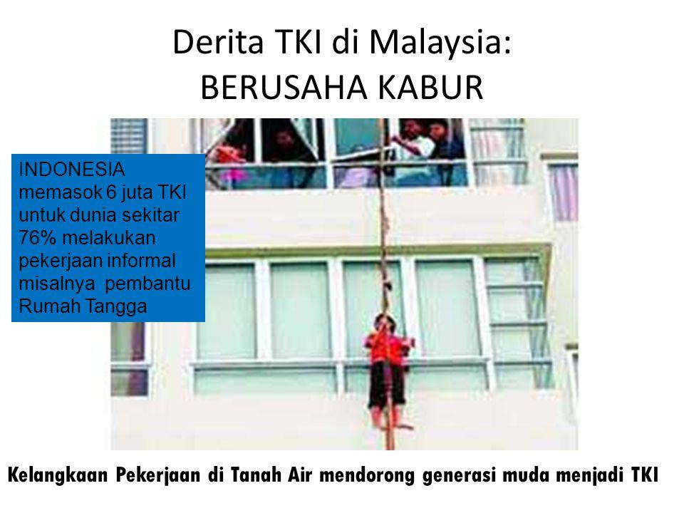 Derita TKI di Malaysia: BERUSAHA KABUR