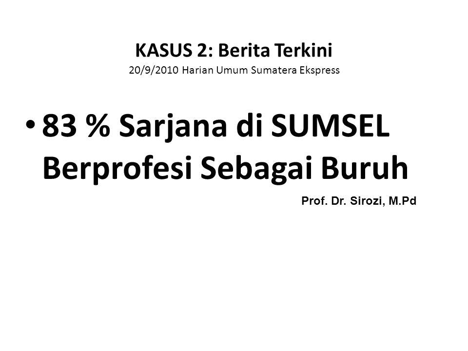 KASUS 2: Berita Terkini 20/9/2010 Harian Umum Sumatera Ekspress