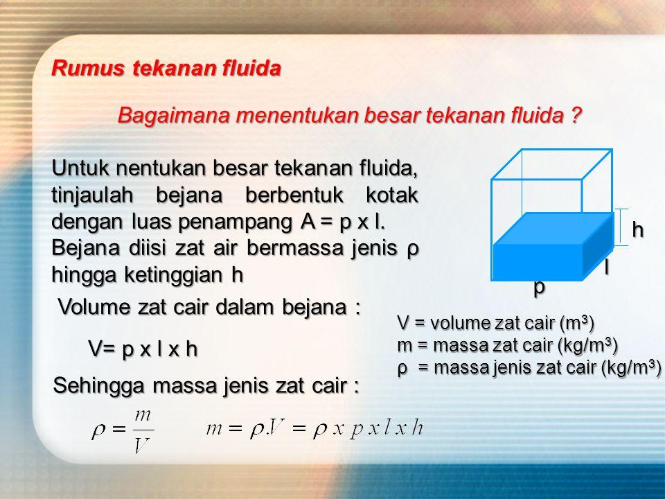 Bagaimana menentukan besar tekanan fluida