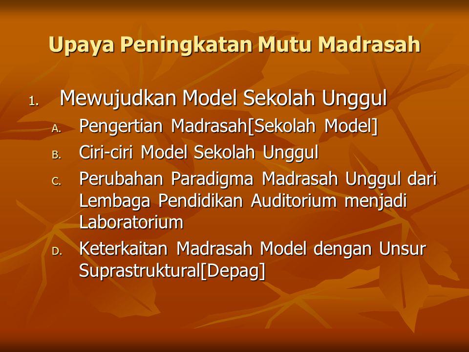 Upaya Peningkatan Mutu Madrasah
